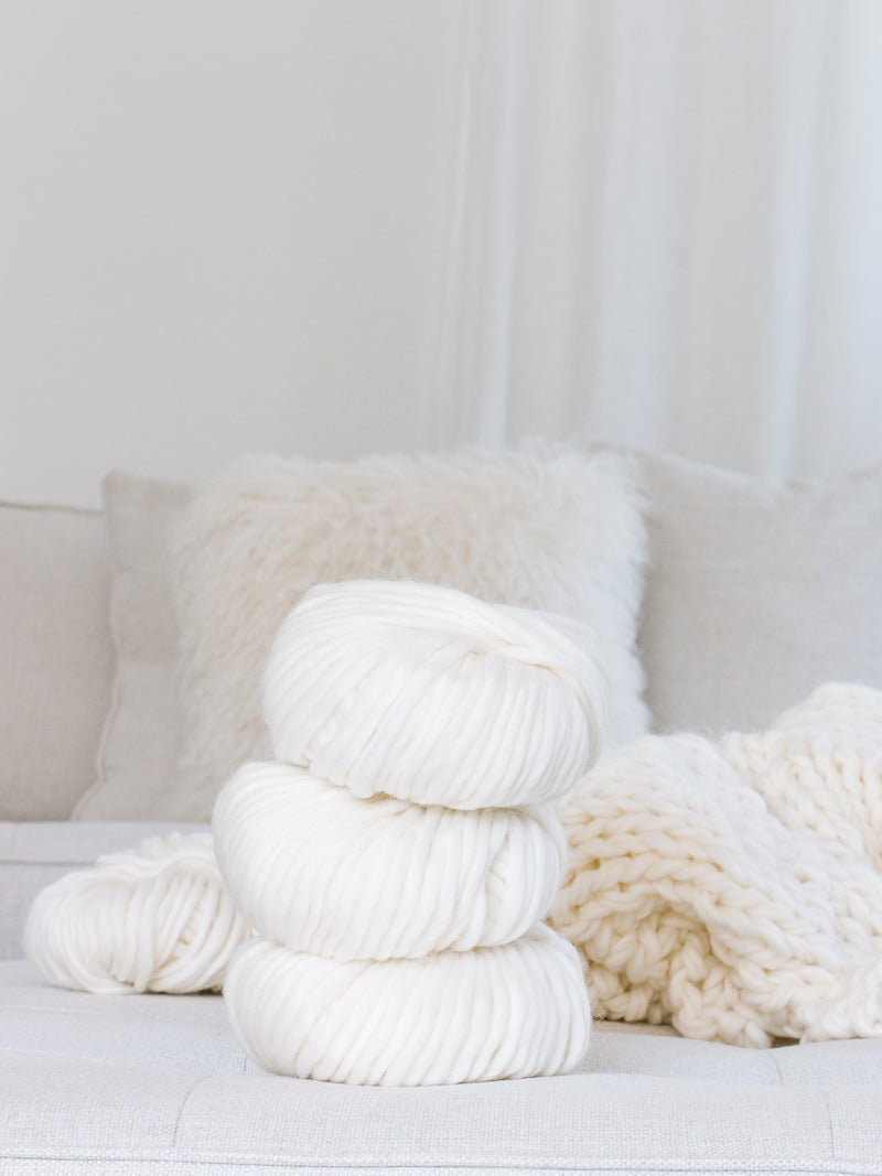 Wool bundles for pom poms + tassels