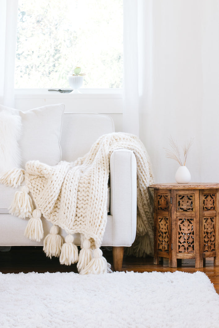 CLARA chunky knit blanket kit