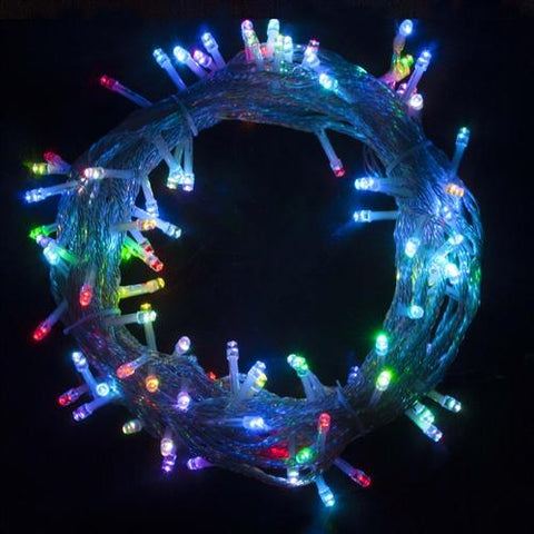 34 Feet Multicolored 100 LED Electric Extendable Flashing Lights Set of 2 by Aleko - My Bounce House For Sale