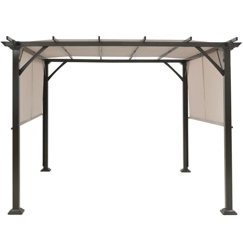 Costway Canopy Tent 10' x 10' Metal Frame Patio Furniture Shelter by Costway 7461759636330 87640132 10' x 10' Metal Frame Patio Furniture Shelter by Costway SKU# 87640132