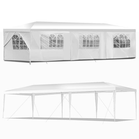 Costway Canopy Tent 10' x 30' Outdoor Canopy Tent with Side Walls by Costway 6971282399271 30729165 10' x 30' Outdoor Canopy Tent with Side Walls by  SKU# 30729165