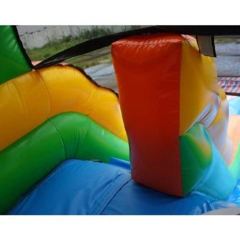 "13""H Red n Green Wet N Dry Slide by Ebouncers - My Bounce House For Sale"