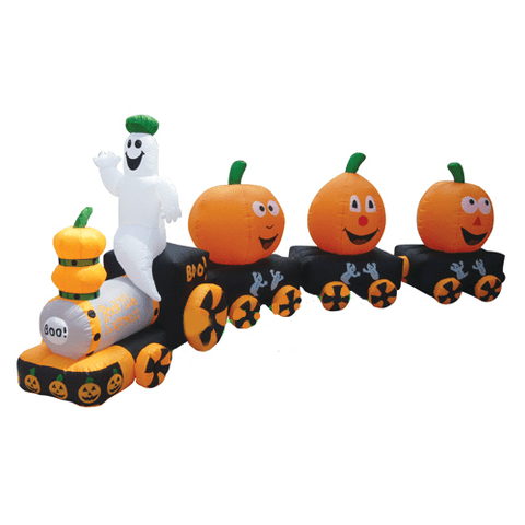 "Gemmy Inflatables Halloween Inflatables 14  ½"" Halloween Pumpkin Train by Gemmy Inflatable"