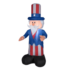 Gemmy Inflatables Special Event Inflatables 4' Patriotic Uncle Sam by Gemmy Inflatable 44244 4' Patriotic Uncle Sam by Gemmy Inflatable SKU# 44244