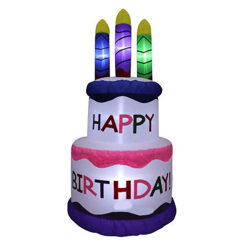 Gemmy Inflatables Special Event Inflatables 5' Inflatable Happy Birthday Cake w/ Candles by Gemmy Inflatable GTN00006-5