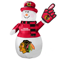 Gemmy Inflatables Special Event Inflatables 7' NHL Chicago Blackhawks Snowman by Gemmy Inflatable 479855-68174 7' NHL Chicago Blackhawks Snowman by Gemmy Inflatable SKU 479855-68174