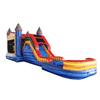 "Image of Happy Jump WET N DRY COMBOS 14""H 5 in 1 Super Combo Castle with Pool (Marble) by Happy Jump"