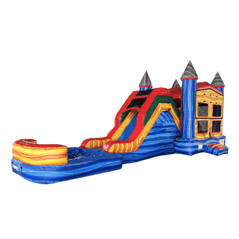"Happy Jump WET N DRY COMBOS 14""H 5 in 1 Super Combo Castle with Pool (Marble) by Happy Jump"