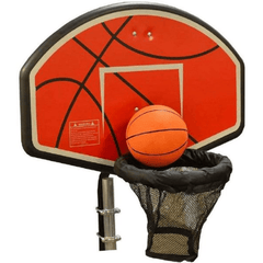 Trampoline Basketball Hoop with Attachment and Inflatable Basketball by Jump King
