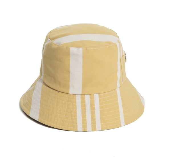 BUCKET HAT -VINTAGE YELLOW STRIPE