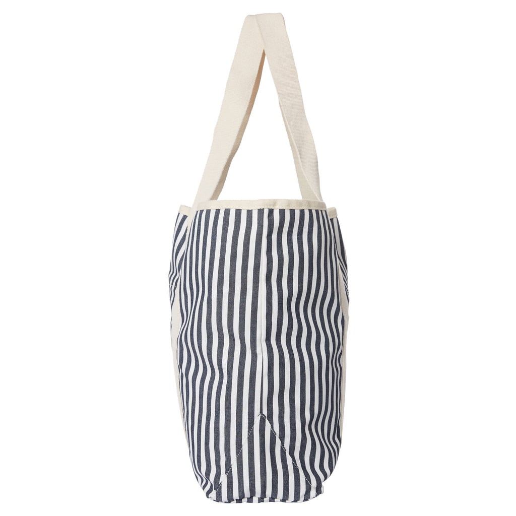 The Beach Bag - Lauren's Navy Stripe - Business & Pleasure Co