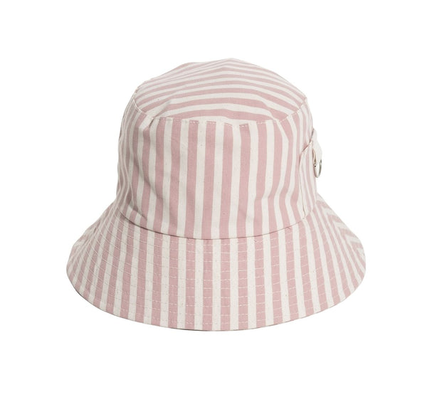 BUCKET HAT -LAURENS PINK STRIPE