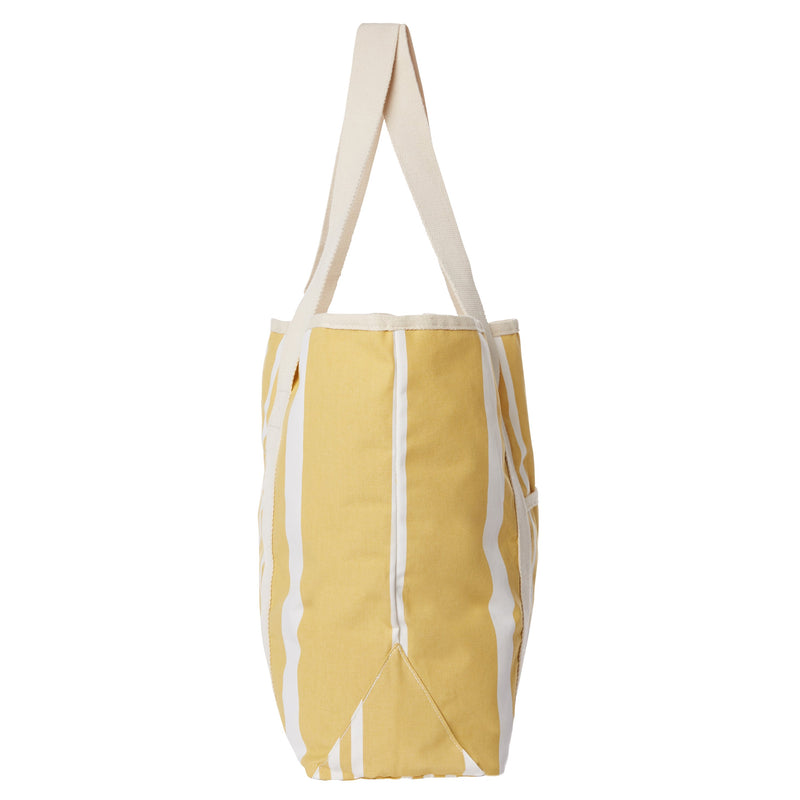The Beach Bag - Vintage Yellow Stripe - Business & Pleasure Co
