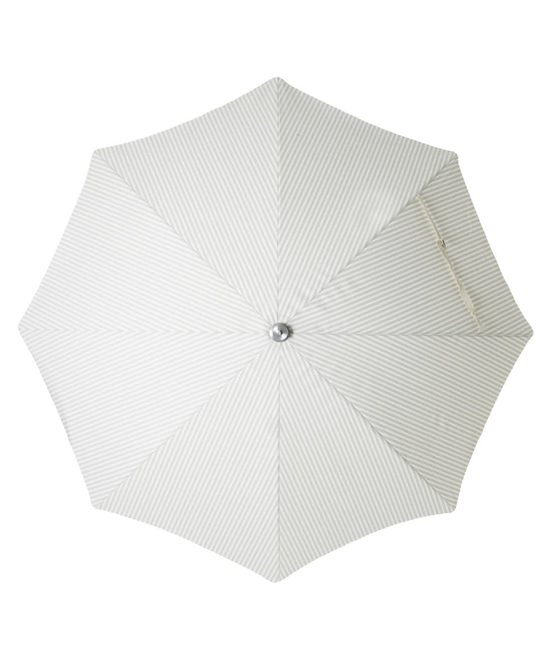 The Premium Beach Umbrella - Lauren's Sage Stripe - Business & Pleasure Co