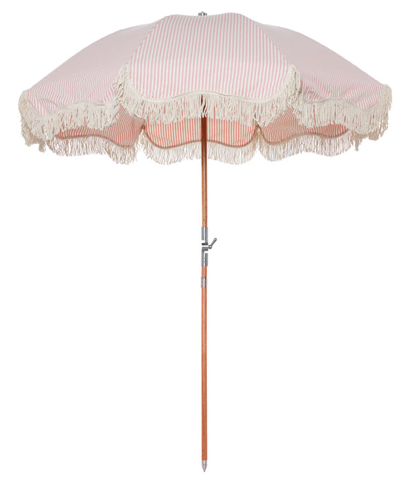 The Premium Beach Umbrella - Lauren's Pink Stripe