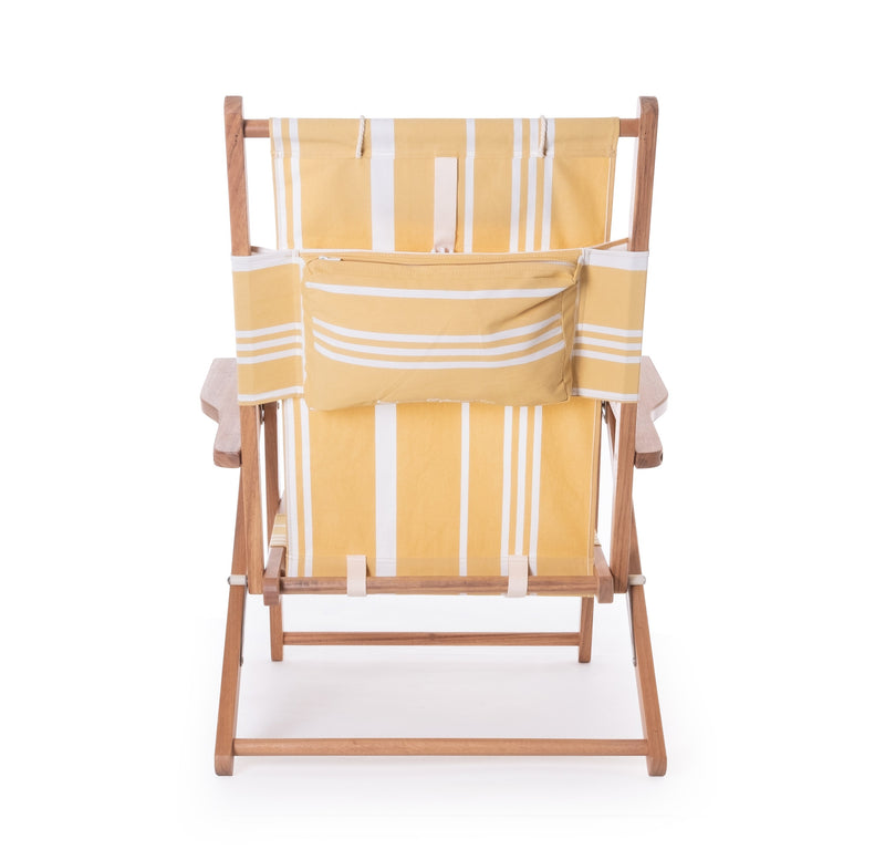 The Tommy Chair - Vintage Yellow Stripe - Business & Pleasure Co