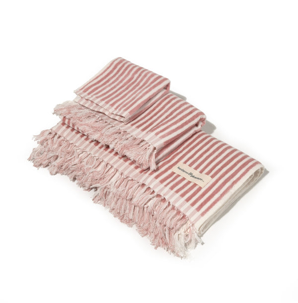The Bath & Beach Set - Lauren's Pink Stripe