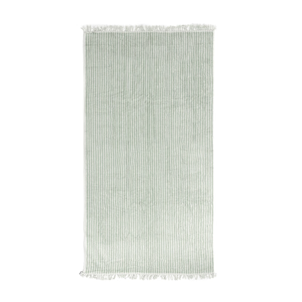 The Beach Towel - Lauren's Sage Stripe