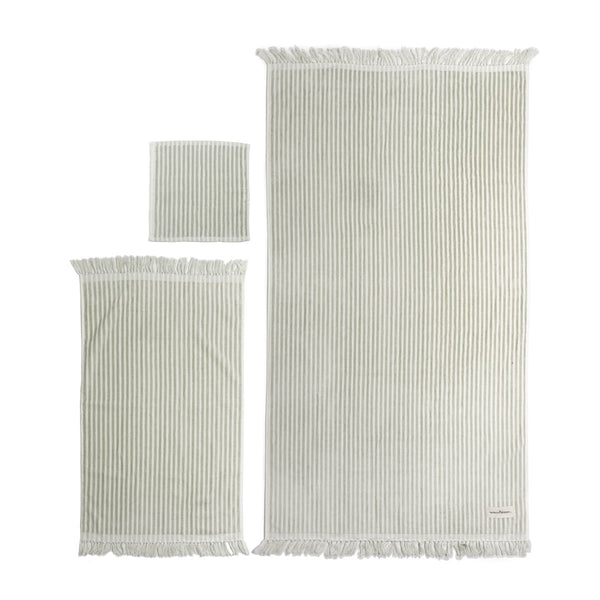The Bath & Beach Set - Lauren's Sage Stripe