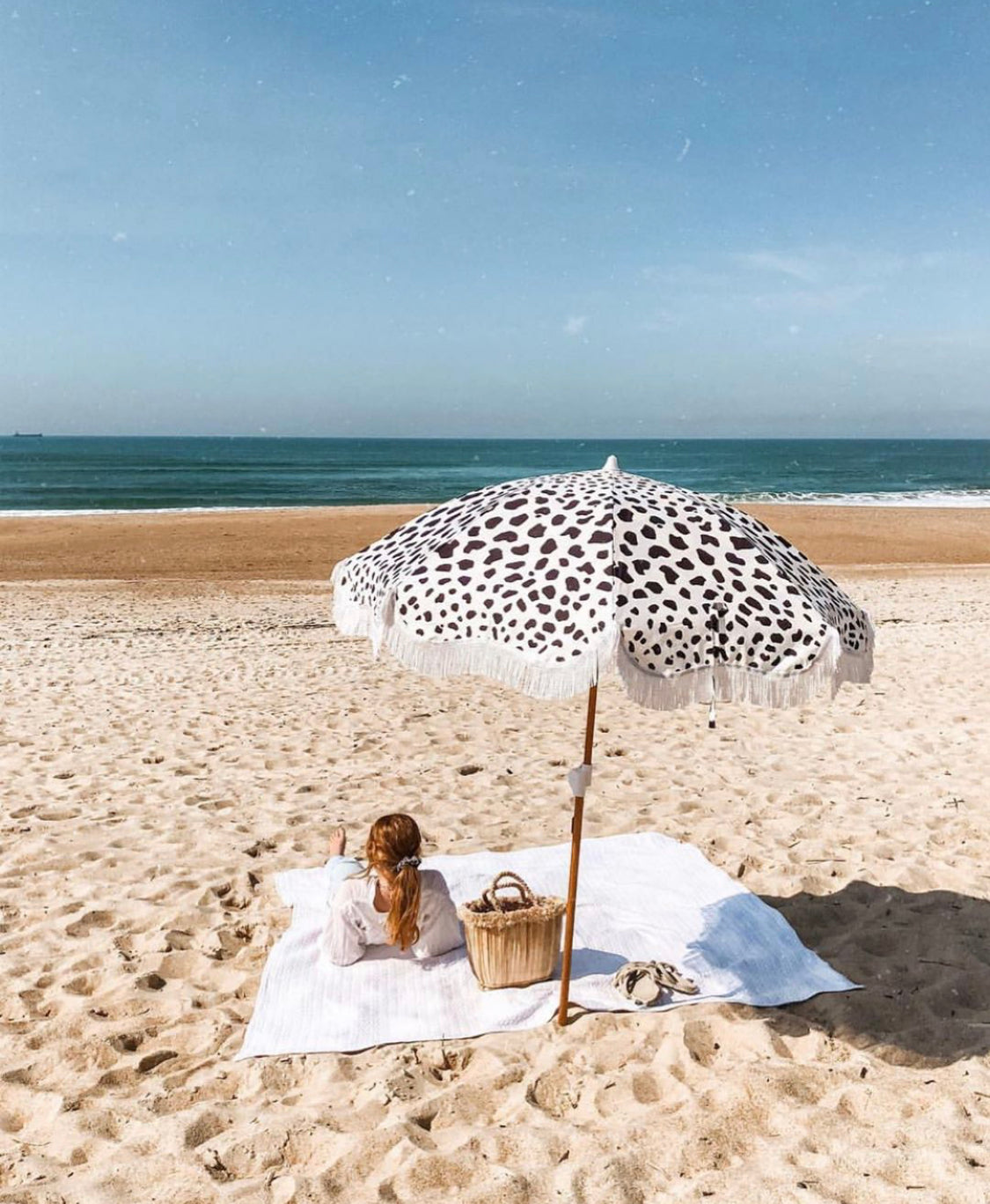 The Holiday Beach Umbrella - African Textile