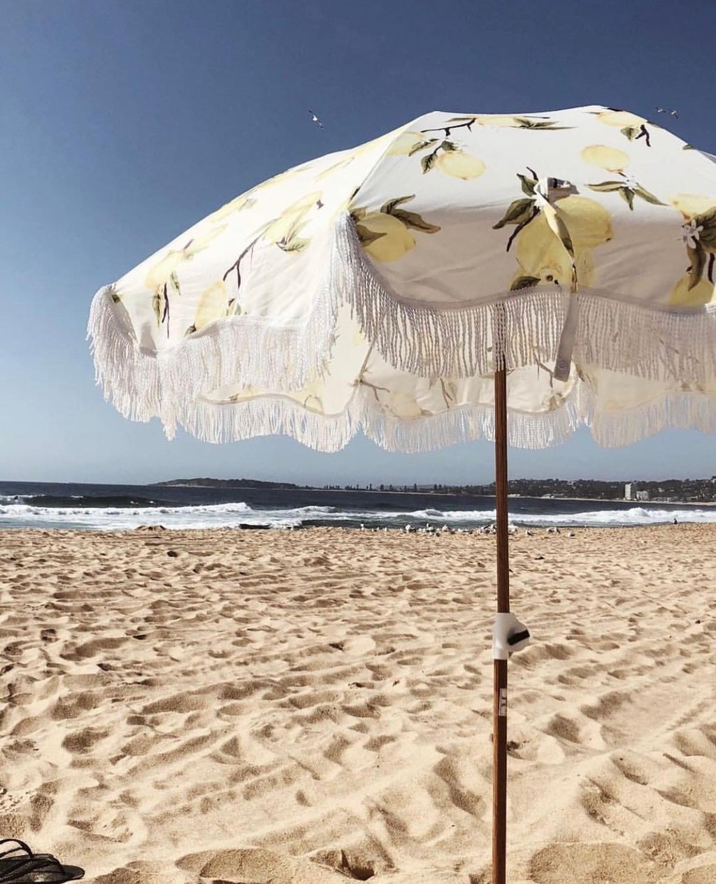 The Holiday Beach Umbrella - Vintage Lemons