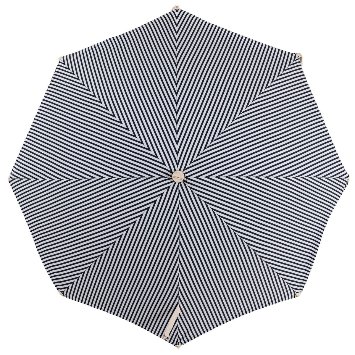 The Premium Beach Umbrella - Lauren's Navy Stripe - Business & Pleasure Co