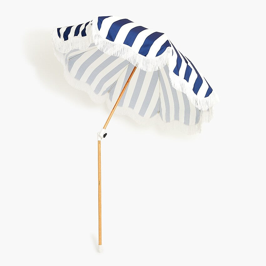 The Holiday Beach Umbrella - Crew Navy Stripe