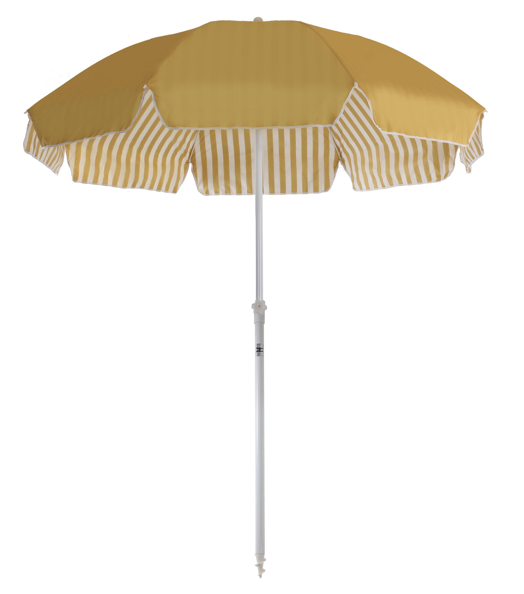 Family Beach Umbrella - Gold Stripe