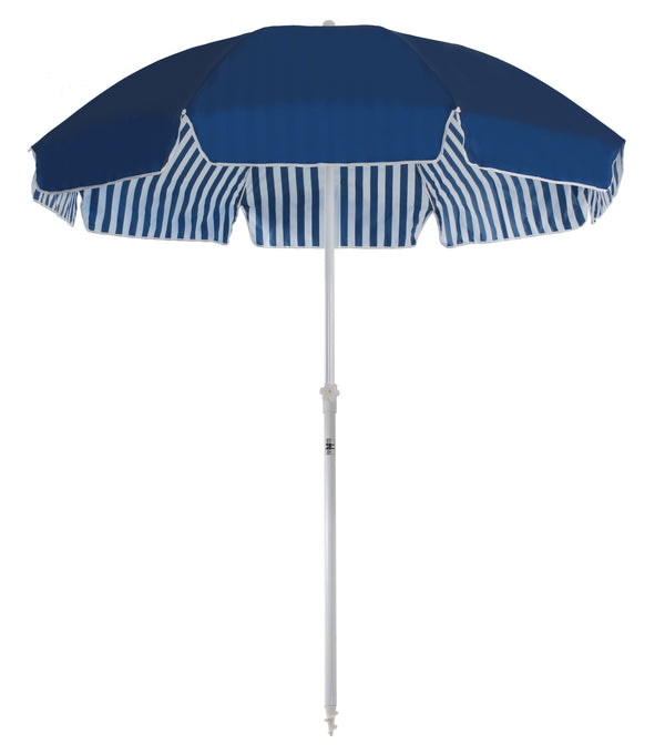 The Family Beach Umbrella - Navy Stripe