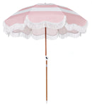 The Holiday Beach Umbrella - Pink Stripe