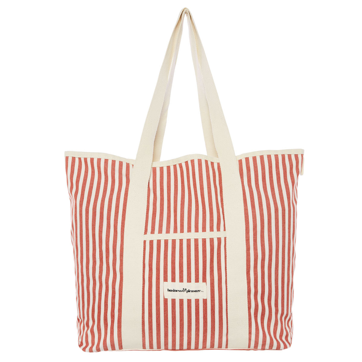 The Beach Bag - Lauren's Rust Stripe