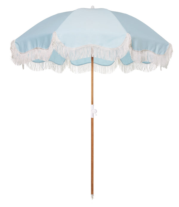 The Holiday Beach Umbrella - Santorini Blue