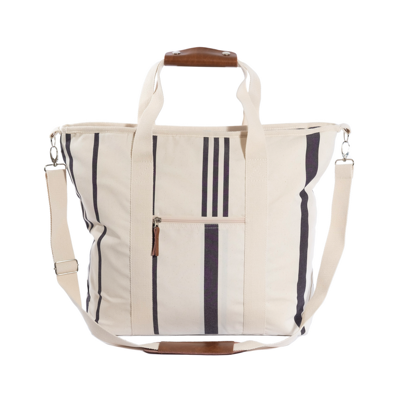 The Cooler Tote Bag - Vintage Black Stripe