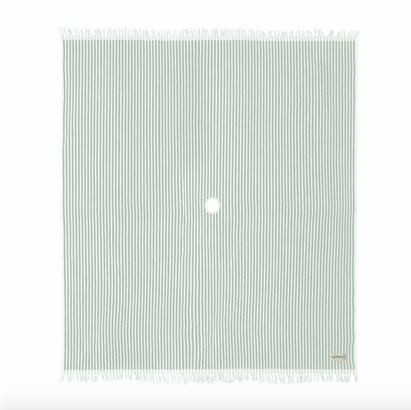 The Beach Blanket - Lauren's Sage Stripe