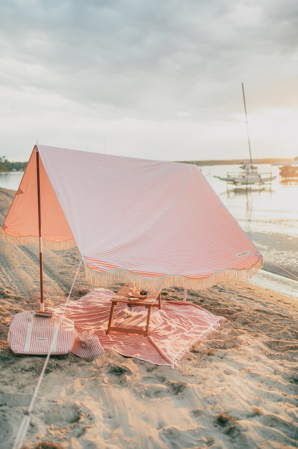 The Premium Beach Tent - Lauren's Pink Stripe