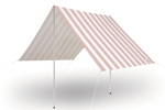 The Holiday Beach Tent - Crew Pink Stripe