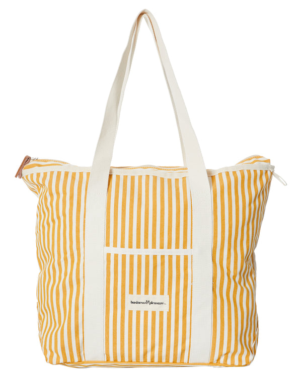 The Beach Bag - Lauren's Gold Stripe