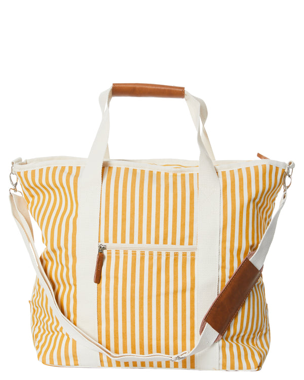 The Cooler Tote Bag - Lauren's Gold Stripe
