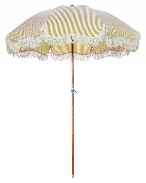 The Premium Beach Umbrella - Lauren's Gold Stripe