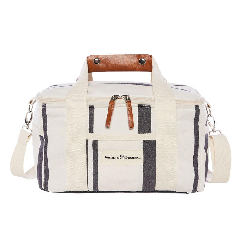 The Premium Cooler Bag - Vintage Black Stripe