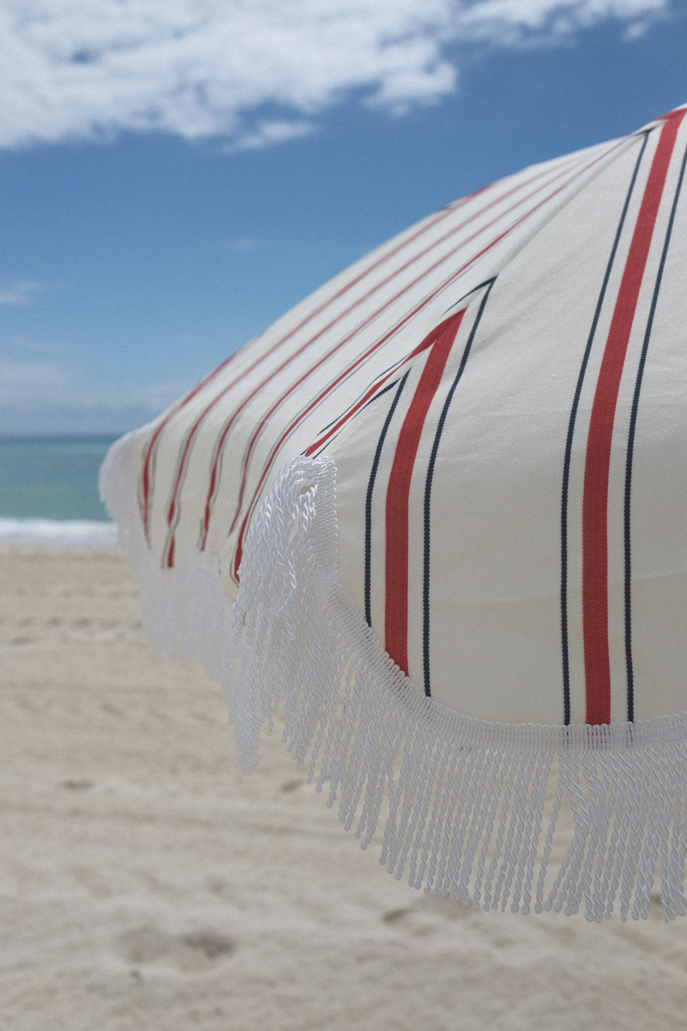 French Stripe Beach Umbrella - FREE SHIPPING