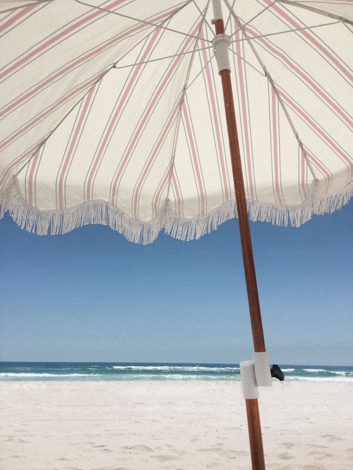 The Holiday Beach Umbrella - French Stripe
