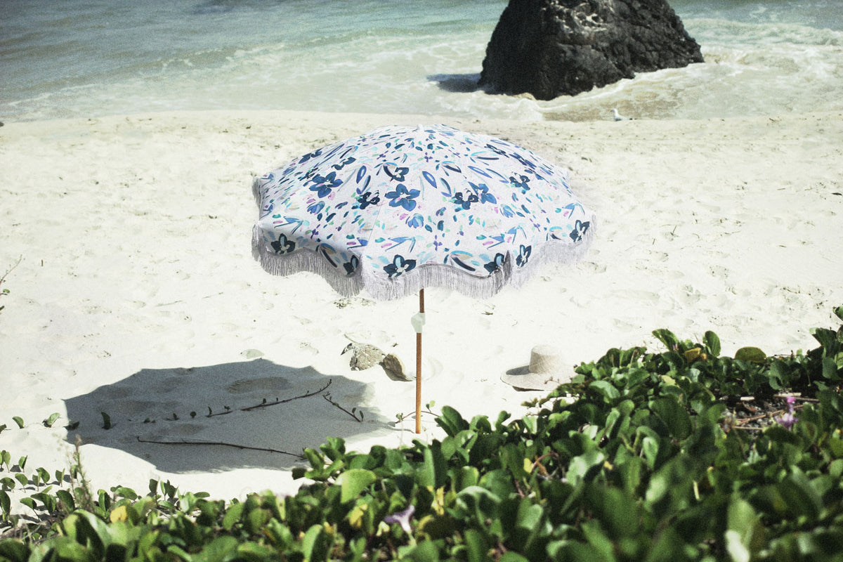 SCF Floral Beach Umbrella - FREE SHIPPING