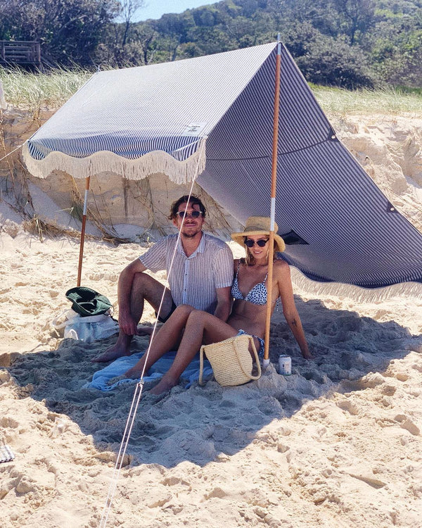 The Premium Beach Tent - Lauren's Navy Stripe