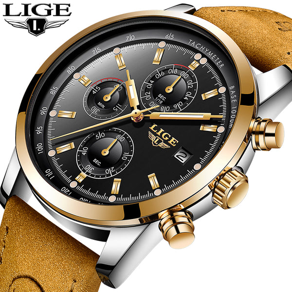 2018 New LIGE Mens Watch.