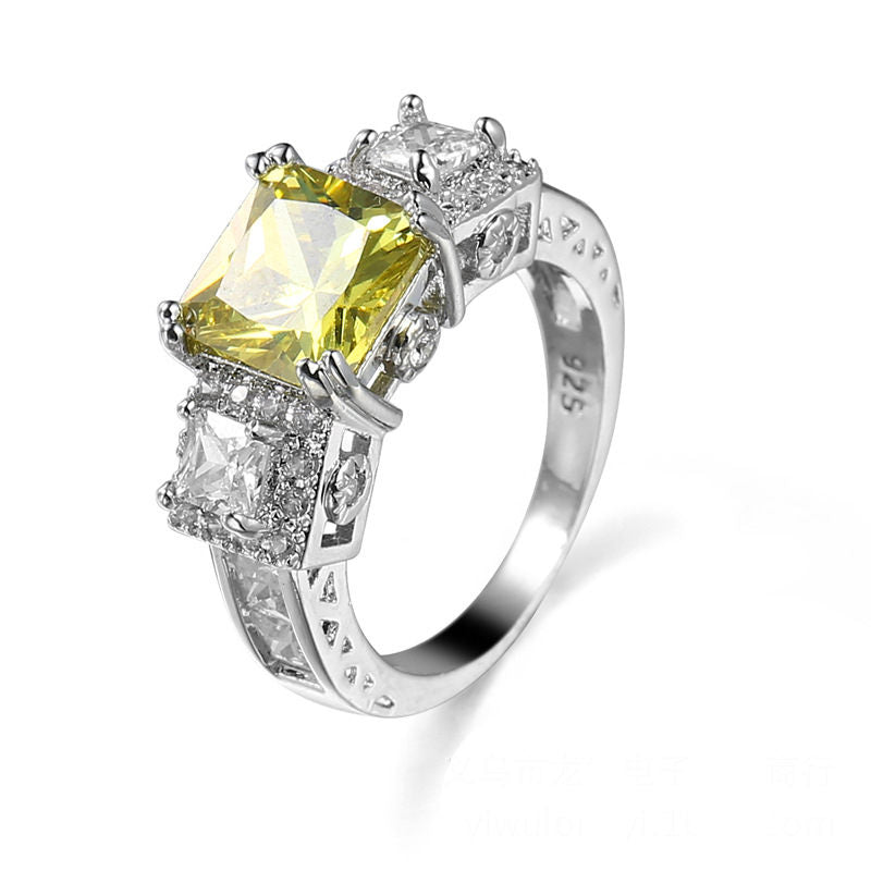 High quality female jewelry yellow engagement