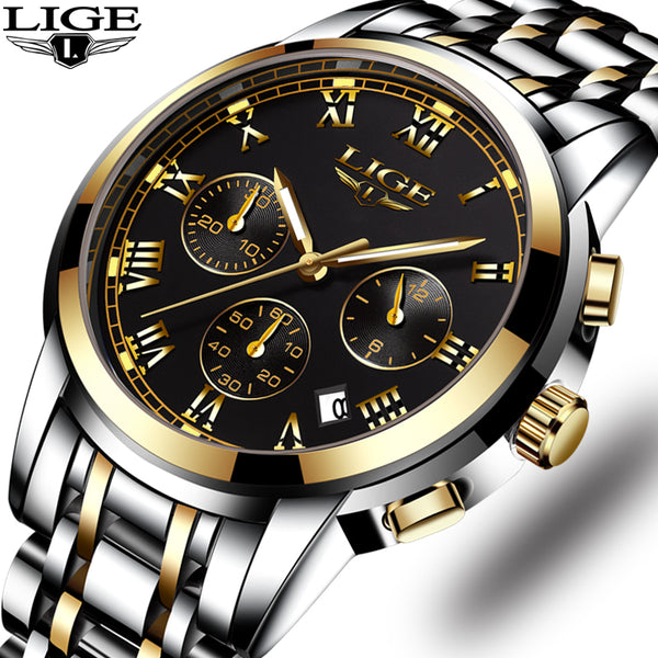 LIGE Mens Watches Top Brand  Military Sport.