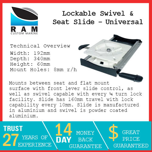 Lockable Swivel & Seat Slide - Universal