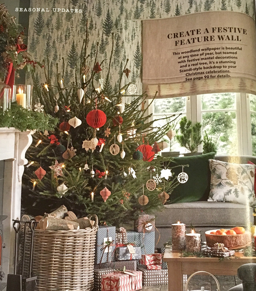 Tree-Mendous! Nordic Edit products featured in Country Homes & Interiors Magazine Christmas 2018
