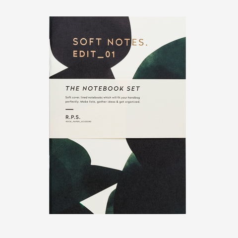 Soft Notebook Set | Green & Blue
